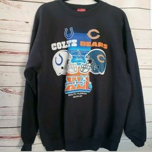 NFL vintage superbowl 2007 sweatshirt Colts Bears